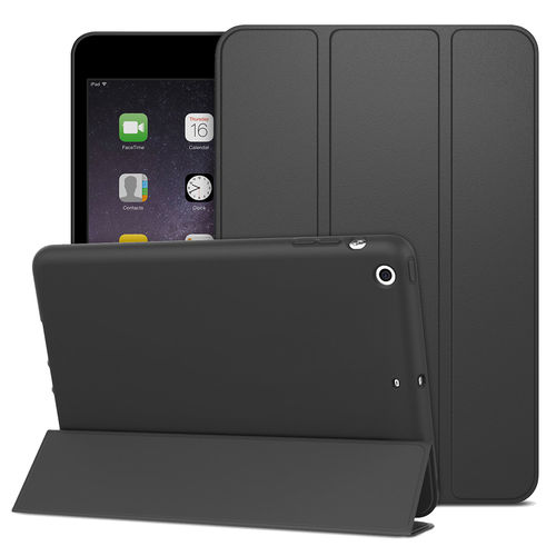 Trifold Smart Case & Stand for Apple iPad Mini 3 / 2 / 1 - Black
